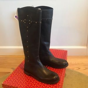 NWT Tory Burch Brown Riding Boots - Size 8.5